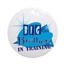 Big Brother in Training Ornament (Round)