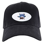 Yoga Kitty Cat Black Cap