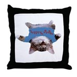 Yoga Kitty Cat Throw Pillow