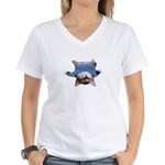 Yoga Kitty Cat Women's V-Neck T-Shirt
