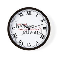 Who Needs Heaven Wall Clock