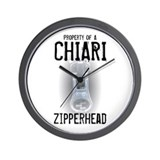 Property of A Chiari Zipperhead Wall Clock