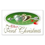 First Christmas 2005 Rectangle Sticker