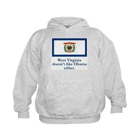 West Virginia Against Obama Kids Hoodie