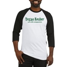 Vegan Kosher=Compassion Baseball Jersey