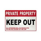 KEEP OUT Rectangle Magnet (10 pack)