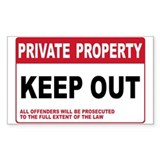KEEP OUT Rectangle Sticker 50 pk)