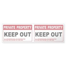 KEEP OUT Bumper Sticker (50 pk)
