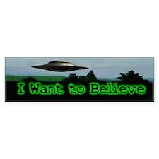 I Want To Believe Bumper Bumper Sticker