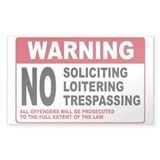 NO SOLICITING Rectangle Sticker 50 pk)