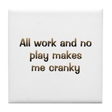 CW All Work Tile Coaster