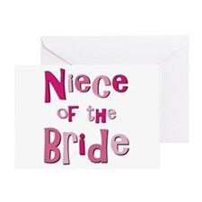 Niece of the Bride Wedding Greeting Card
