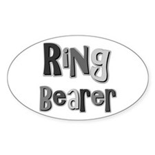 Ring Bearer Wedding Party Oval Decal