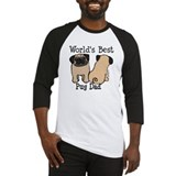World's Best Pug Dad Baseball Jersey