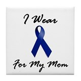 I Wear Blue For My Mom 1 Tile Coaster