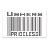 Ushers Priceless Rectangle Decal