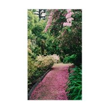 Pink Petals on Garden Path Rectangle Decal