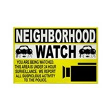 Neighborhood Watch Rectangle Magnet (10 pack)