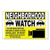 Neighborhood Watch Rectangle Sticker 10 pk)