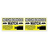 Neighborhood Watch Bumper Car Sticker