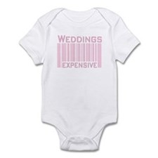 Weddings Expensive Pink Infant Creeper
