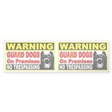 Guard Dog Bumper Bumper Sticker