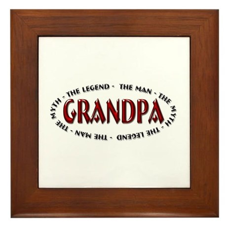Grandpa The Legend Framed Tile
