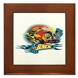 Tribal BMX Framed Tile