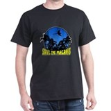 Blue Conservation Save Macaws Black TShirt
