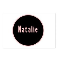 Natalie - Pink Circle Postcards (Package of 8)