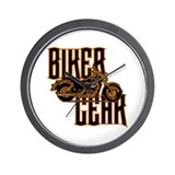 Biker Gear Wall Clock