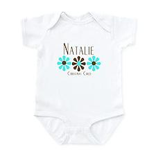 Natalie - Blue/Brown Flowers Onesie