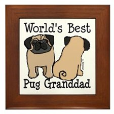 World's Best Pug Granddad Framed Tile