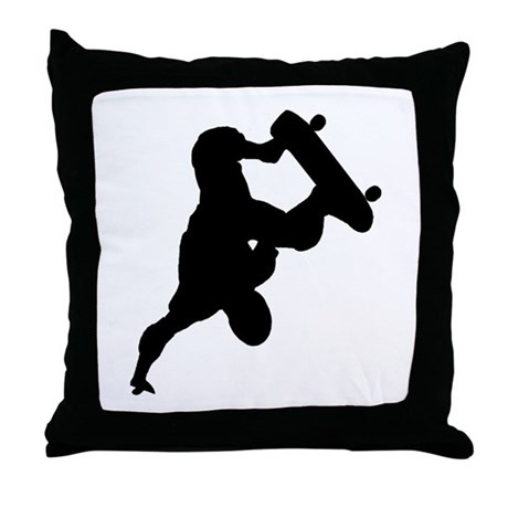 Skateboarding Throw Pillow
