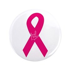 "Breast Cancer Ribbon 3.5"" Button (100 pack)"