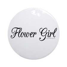 """Flower Girl"" Keepsake (Round)"