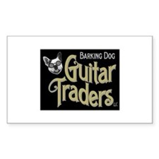 Barking dog guitars Rectangle Sticker 10 pk)