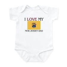I Love My New Jersey Dad Infant Bodysuit