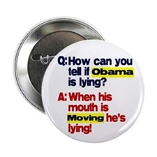 "Obama Lies 2.25"" Button"