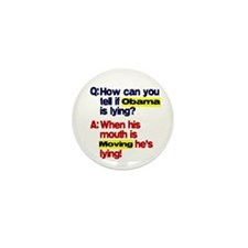 Obama Lies Mini Button (100 pack)