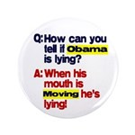 "Obama Lies 3.5"" Button"