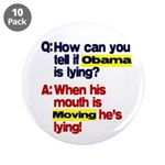 "Obama Lies 3.5"" Button (10 pack)"