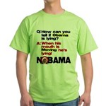 Obama Lies Green T-Shirt