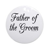 &quot;Father of the Groom&quot; Keepsake (Round)