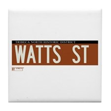 Watts Street in NY Tile Coaster