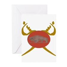 Buffalo Soldier Badge Greeting Cards (Pk of 20)
