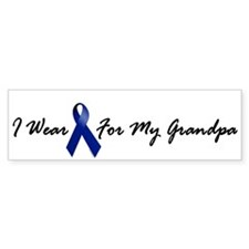 I Wear Blue For My Grandpa 1 Bumper Bumper Sticker