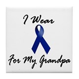 I Wear Blue For My Grandpa 1 Tile Coaster