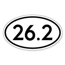 26.2 Marathon Runner Oval Oval Sticker (10 pk)