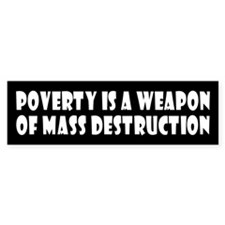 POVERTY Bumper Bumper Sticker
